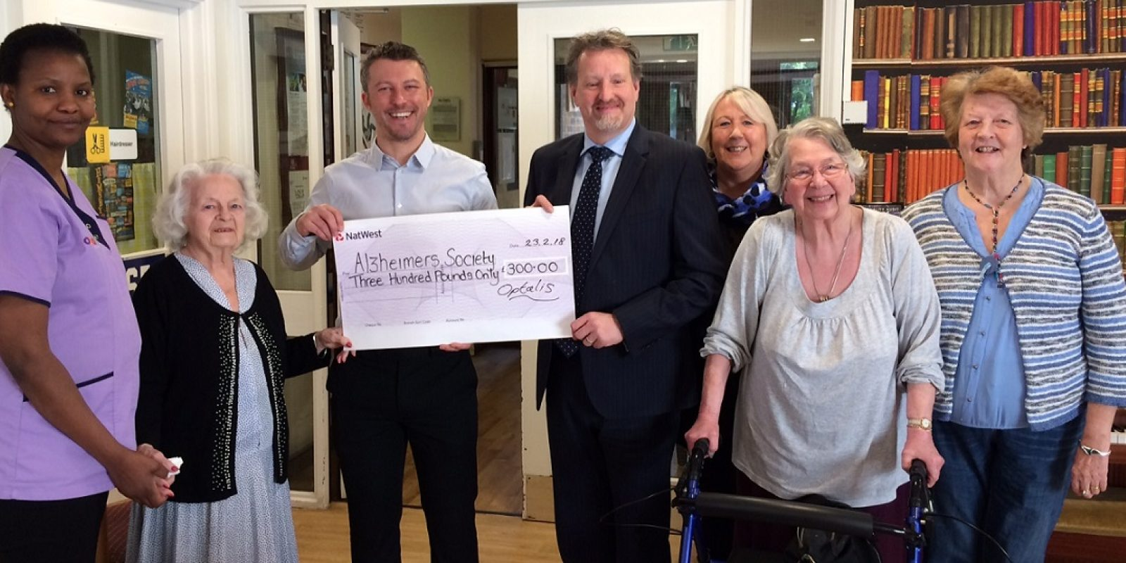 Alzheimers Society cheque handover